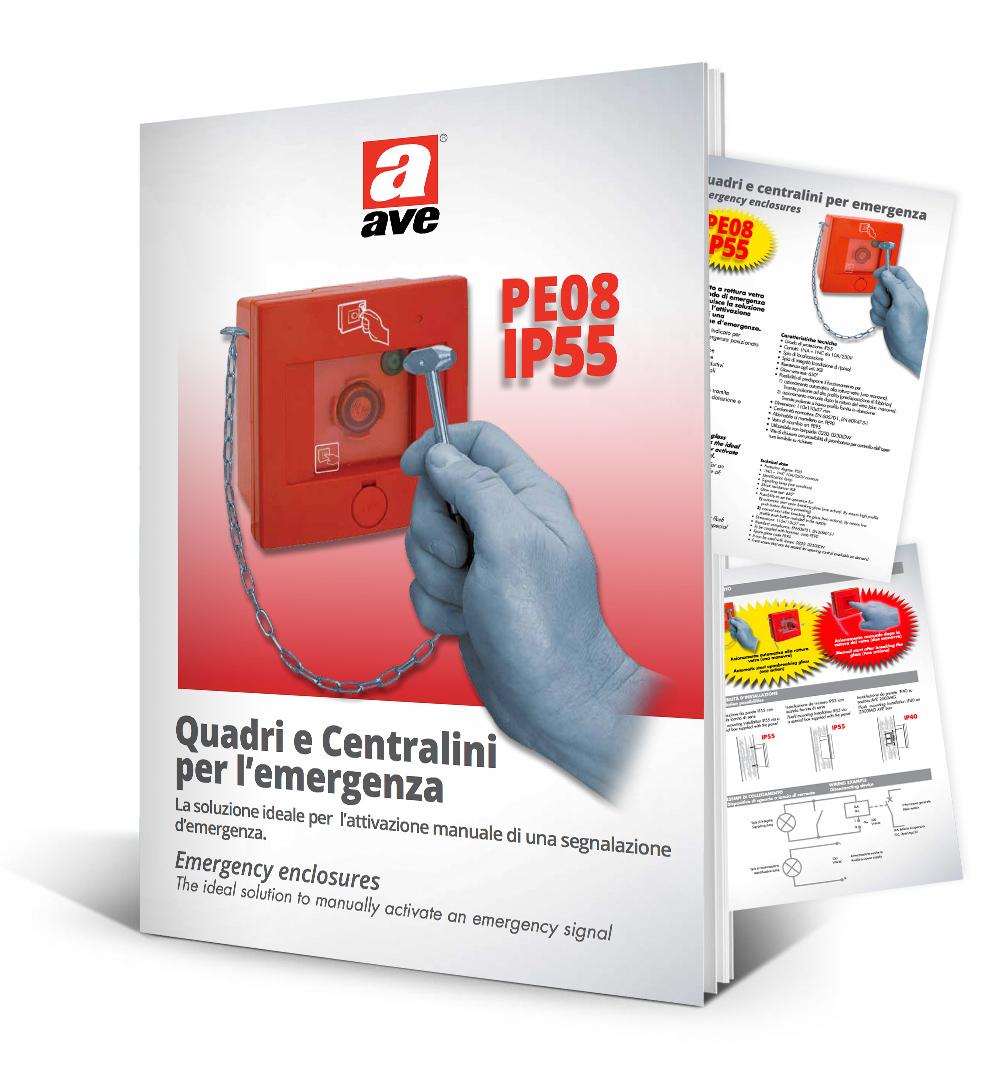 Depliant quadri centralini per emergenza