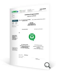 Certificato di approvazione imq AVE