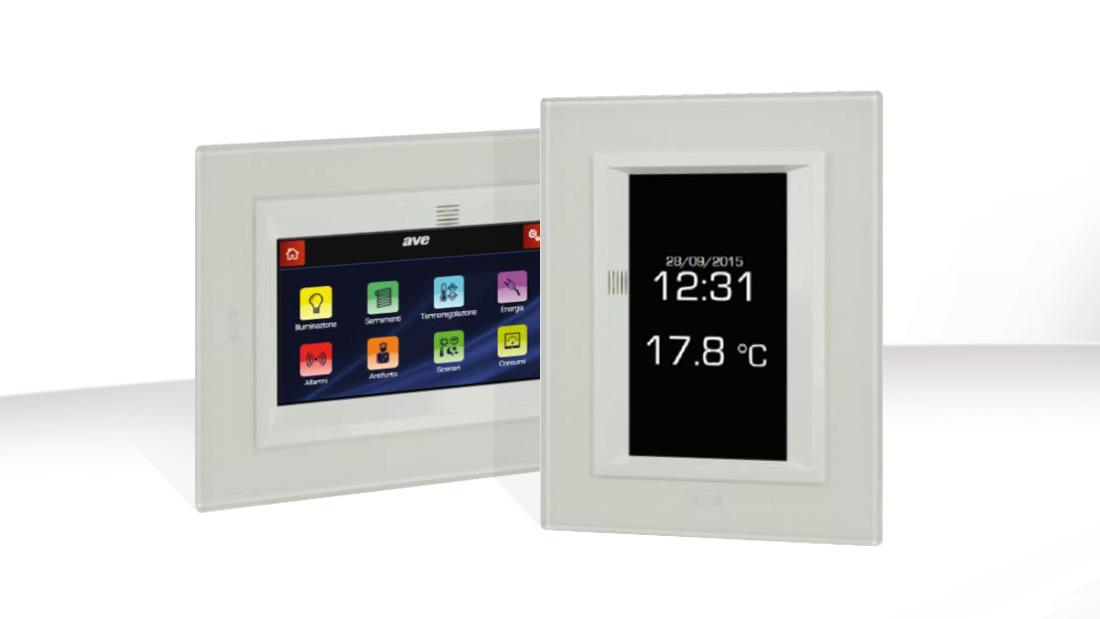 Mini Touch Screen TS01: il cuore domotico della damera d'albergo