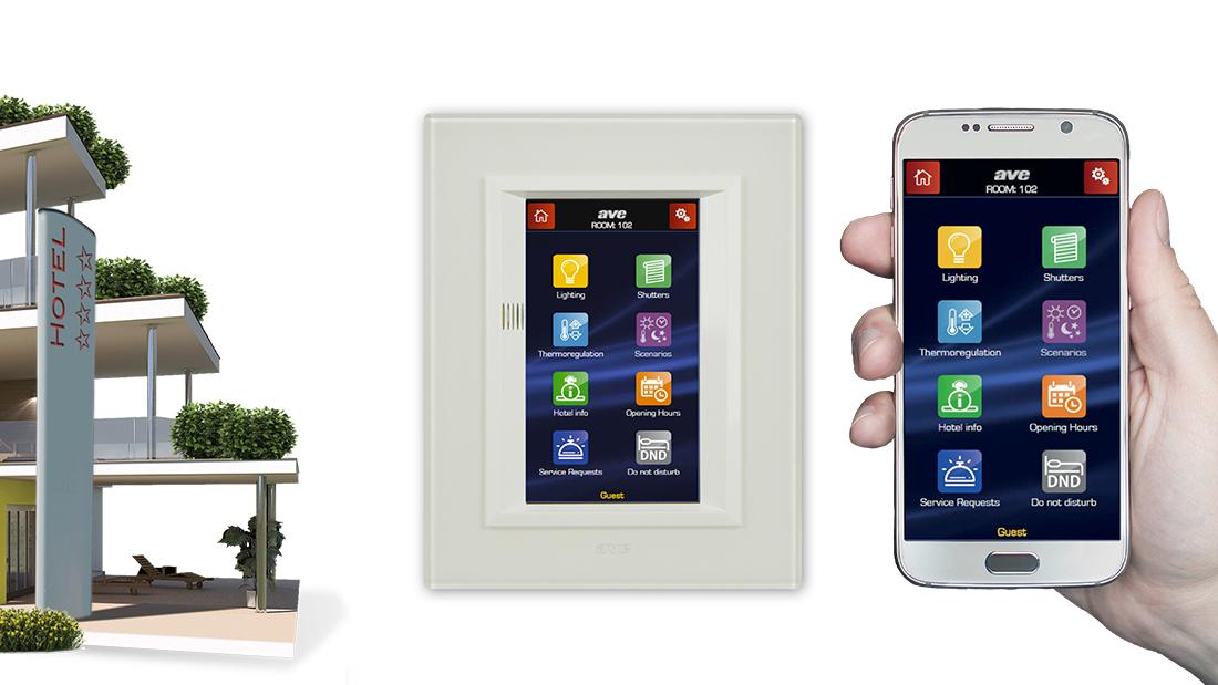 Mini Touch Screen per hotel con supervisione da smartphone